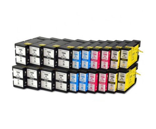 20 Compatible Ink Cartridges, Canon PGI-1500 Black 36ml + Color 11.5ml