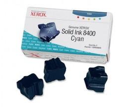 3 Original Ink Cartridges, Xerox 108R00605 Cyan ~ 3.400 Pages