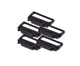 5 Compatible Tapes, Epson ERC-38BK Black