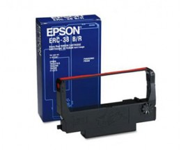 Original tape Epson ERC-38BR Black / Red ~ 1.500.000 Characters