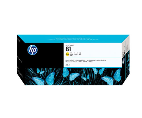 Original Ink Cartridge HP 81 Yellow 680ml ~ 1.000 Pages