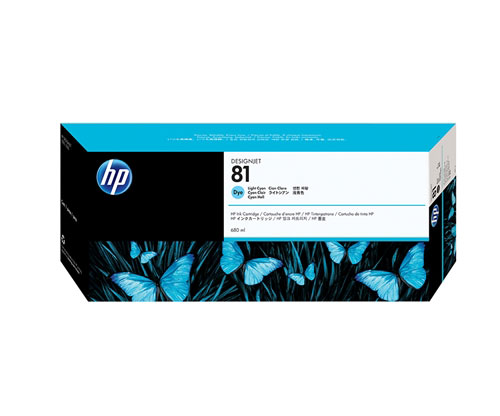 Original Ink Cartridge HP 81 Cyan bright 680ml ~ 1.000 Pages