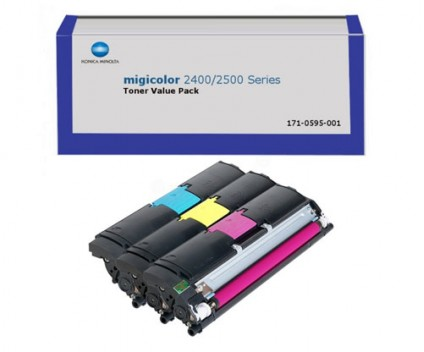 3 Original Toners, Konica Minolta A00W012 Color ~ 4.500 Pages