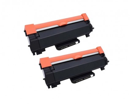 2 Compatible Toners, Brother TN-2410 / TN-2420 Black ~ 3.000 Pages