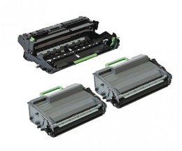 1 Compatible Drum Brother DR-3400 ~ 50.000 Pages + 2 Compatible Toners Brother TN-3480 Black ~ 8.000 Pages