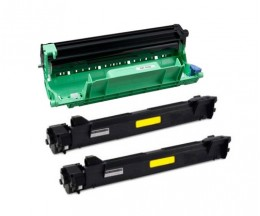 1 Compatible drum Brother DR-1050 Black ~ 9.000 Pages + 2 Compatible Toners, Brother TN-1050 Black ~ 1.000 Pages