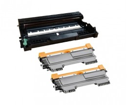 1 Compatible drum Brother DR-2200 ~ 12.000 Pages + 2 Compatible Toners Brother TN-2220 / TN-2010 Black ~ 2.600 Pages