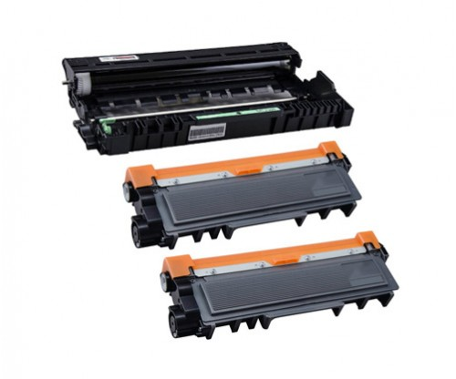 1 Compatible drum Brother DR-2300 Black ~ 12.000 Pages + 2 Compatible Toners, Brother TN-2320 Black ~ 2.600 Pages