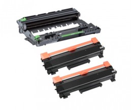 1 Compatible Drum Brother DR-2400 ~ 12.000 Pages + 2 Compatible Toners, Brother TN-2410 / TN-2420 Black ~ 3.000 Pages