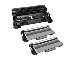 1 Compatible drum Brother DR-3300 ~ 30.000 Pages + 2 Compatible Toners Brother TN-3380 Black ~ 8.000 Pages