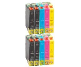 10 Compatible Ink Cartridges, Epson T03A6 / 603 XL Black 13ml + Color 12ml