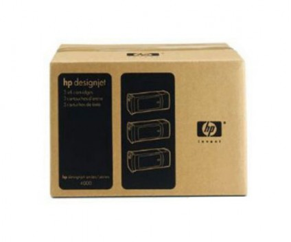 3 Original Ink Cartridges, HP 90 Black 775ml