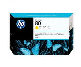 Original Ink Cartridge HP 80 Yellow 175ml ~ 2.200 Pages