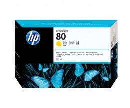 Original Ink Cartridge HP 80 Yellow 350ml ~ 4.400 Pages