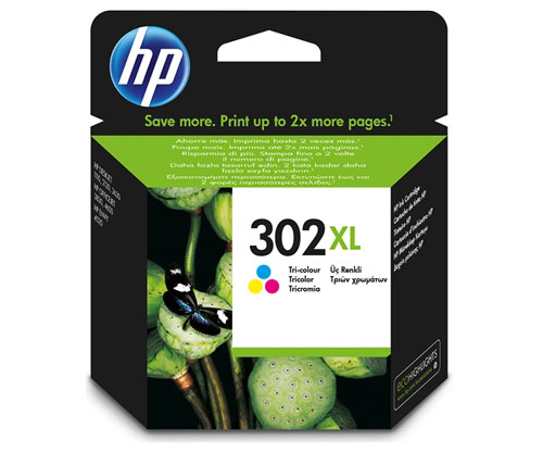 Original Ink Cartridge HP 302 XL Color 8ml ~ 330 Pages