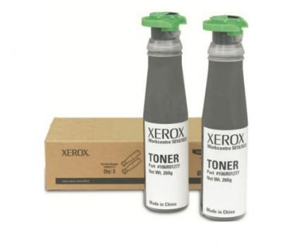2 Original Toners, Xerox 106R01277 Black ~ 6.300 Pages