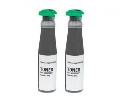 2 Compatible Toners, Xerox 106R01277 Black ~ 5.000 Pages