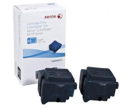 2 Original Toners, Xerox 108R00931 Cyan ~ 4.400 Pages
