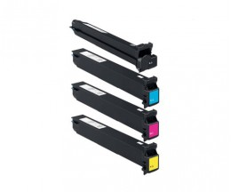 4 Compatible Toners, Konica Minolta A0TMX50 Black + Color ~ 45.000 / 30.000 Pages