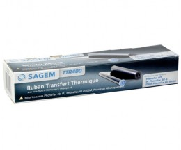 Original Thermal transfer roll Sagem TTR400 Black ~ 140 Pages