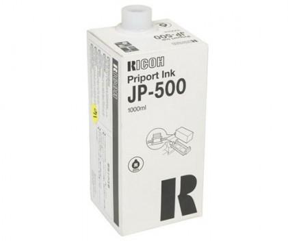 6 Original Ink Cartridges, Ricoh 817155 Black 1000ml