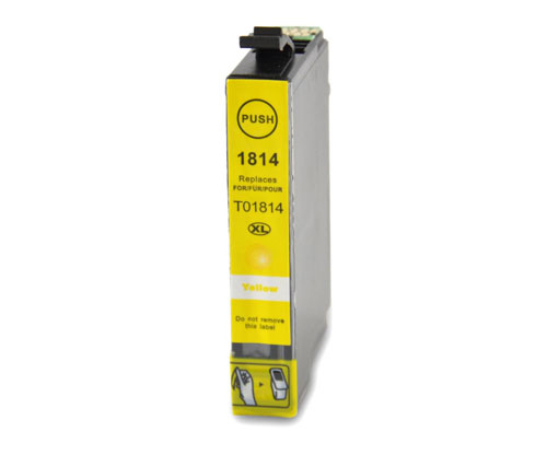 Compatible Ink Cartridge Epson T1804 / T1814 / 18 XL Yellow 13ml