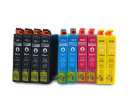 10 Compatible Ink Cartridges, Epson T1631-T1634 / 16XL Black 17ml + Color 11.6ml