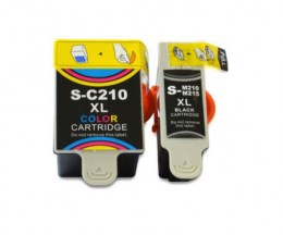 2 Compatible Ink Cartridges, Samsung M-215 Black 20ml + C-210 Color 40ml