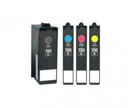 4 Compatible Ink Cartridges, Lexmark 150 XL Black 35ml + Color 18ml