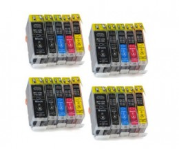 20 Compatible Ink Cartridges, Canon BCI-3 / BCI-6 / BCI-5 Black 26.8ml + Color 13.4ml