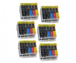 30 Compatible Ink Cartridges, Canon BCI-3 / BCI-6 / BCI-5 Black 26.8ml + Color 13.4ml