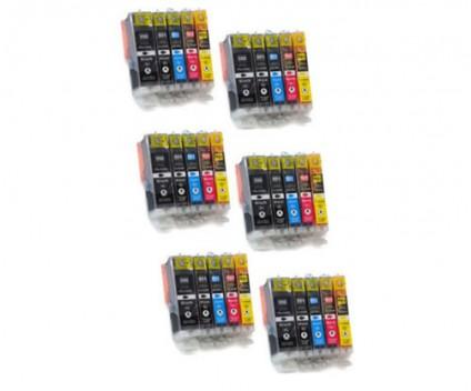 30 Compatible Ink Cartridges, Canon PGI-550 XL / CLI-551 Black 22ml + Color 13ml
