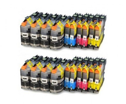 20 Compatible Ink Cartridges, Brother LC-121 / LC-123 Black 20.6ml + Color 10ml