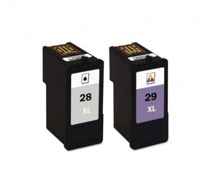 2 Compatible Ink Cartridges, Lexmark 28 XL Black 21ml + Lexmark 29 XL Color 15ml