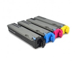 4 Compatible Toners, Kyocera TK 510 Black + Color ~ 8.000 Pages