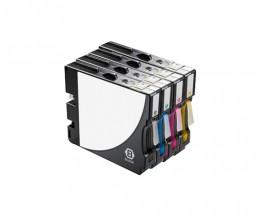 4 Compatible Ink Cartridges, Ricoh GC-21 / GC-21 XXL Black 78ml + Color 64ml