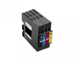 4 Compatible Ink Cartridges, Ricoh GC-31 / GC-31 XXL Black 78ml + Color 64ml