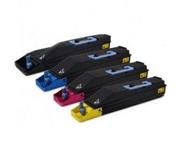 4 Compatible Toners, Kyocera TK 855 Black + Color ~ 25.000 / 18.000 Pages