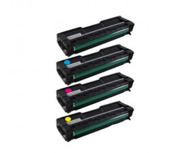 4 Compatible Toners, Ricoh 4064XX Black + Color ~ 6.500 / 6.000 Pages