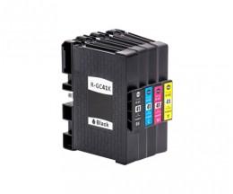 4 Compatible Ink Cartridges, Ricoh GC-41 / GC-41 XXL Black 36ml + Color 22ml