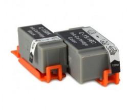 2 Compatible Ink Cartridges, Canon BCI-15 / BCI-16 Black 5.2ml + Color 6.3ml