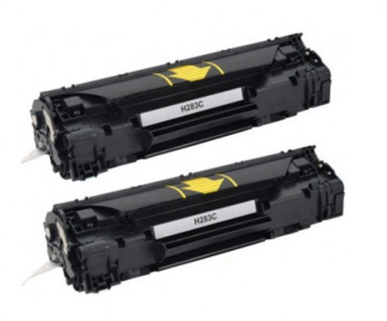 2 Compatible Toners, HP 83A Black ~ 1.500 Pages