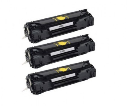 3 Compatible Toners, HP 83A Black ~ 1.500 Pages