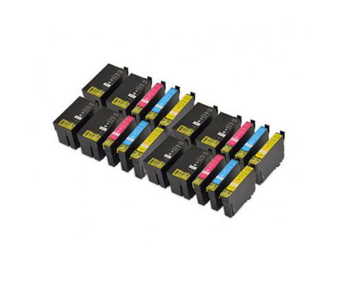 20 Compatible Ink Cartridges, Epson T2701-T2704 / T2711-T2714 / 27 XL Black 22.4ml + Color 15ml