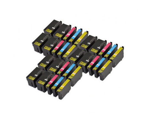30 Compatible Ink Cartridges, Epson T2701-T2704 / T2711-T2714 Black 22.4ml + Color 15ml