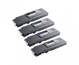 4 Compatible Toners, DELL 5931111X Black + Color ~ 11.000 / 9.000 Pages