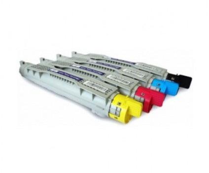 4 Compatible Toners, DELL 5931012X Black + Color ~ 8.000 Pages