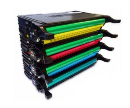 4 Compatible Toners, DELL 5931036X Black + Color ~ 5.500 / 5.000 Pages