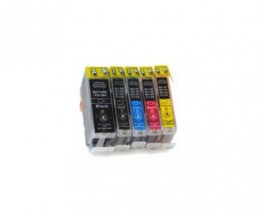 5 Compatible Ink Cartridges, Canon BCI-3 / BCI-6 / BCI-5 Black 26.8ml + Color 13.4ml