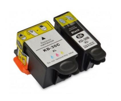 2 Compatible Ink Cartridges, Kodak 3952355 Black 16ml + Color 40ml
